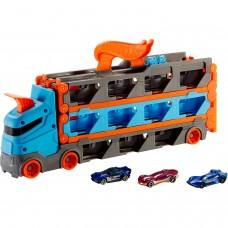 Автовоз Hot Wheels GVG37 с трассой и с хранилищем для машинок