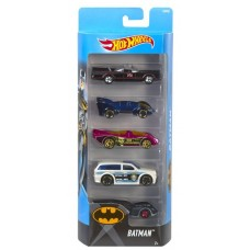 Набор машинок Hot Wheels 5 шт Batman DVF92