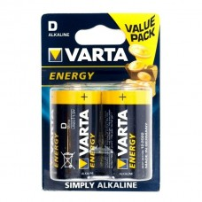 Батарейка VARTA ENERGY LR20, 1.5 В 2 шт.