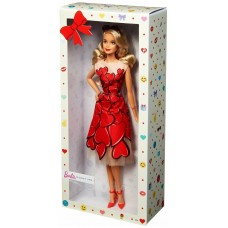Кукла Barbie в красном платье, 30 см, FXC74