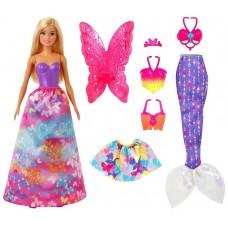 Набор игровой Barbie Дримтопия 3 в 1 кукла+аксессуары, GJK40