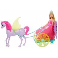 Кукла Barbie Dreamtopia Сказочный экипаж с фантастической лошадью, 29 см, GJK53
