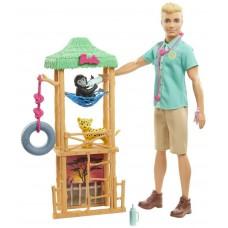 Игровой набор Barbie Кен Ветеринар диких животных, GJM33