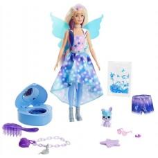 Кукла Barbie с сюрпризами внутри упаковки Фея, GXV94