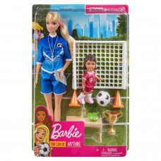 Набор игровой Barbie Футбольный тренер GLM47