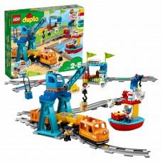 Электромеханический конструктор LEGO DUPLO 10875 Грузовой поезд