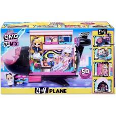 Набор LOL Surprise OMG Remix Plane Самолет 4 в 1 50+ сюрпризов 571339 MGA Entertainment