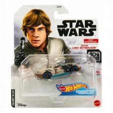 Машинка Hot Wheels Luke Skywlaker Star Wars Character Cars GMJ04