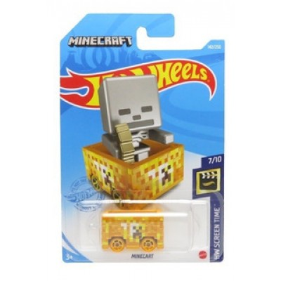 Машинка HOT WHEELS AUTO MINECRAFT WAGON MINECART GRX95